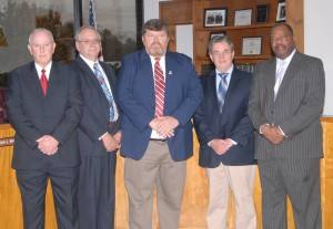 Pictured from left: Commissioner Wheeles, Commissioner Johnson, Commissioner Watts, Commissioner Milstead and Commissioner Burney