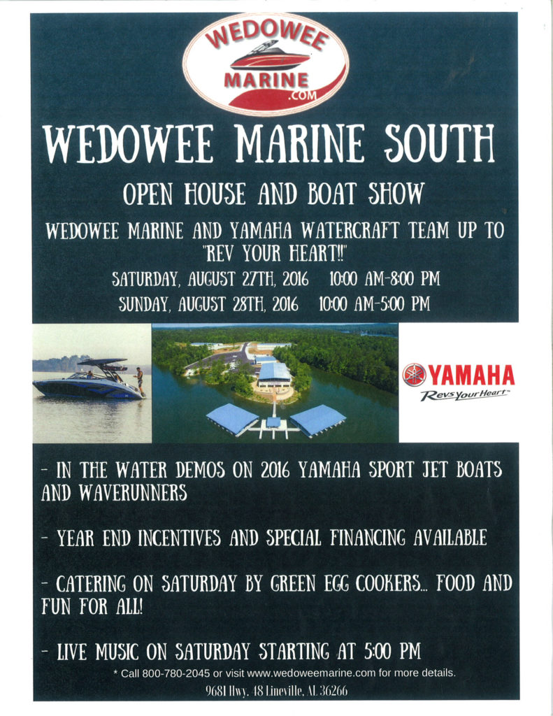 Wedowee Marine South Open House @ Wedowee Marine South | Lineville | Alabama | United States