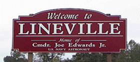 Lineville Alabama Welcome Sign