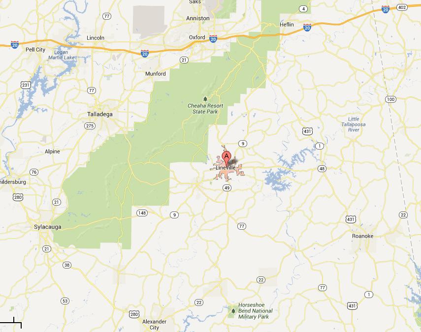 lineville - Google Maps