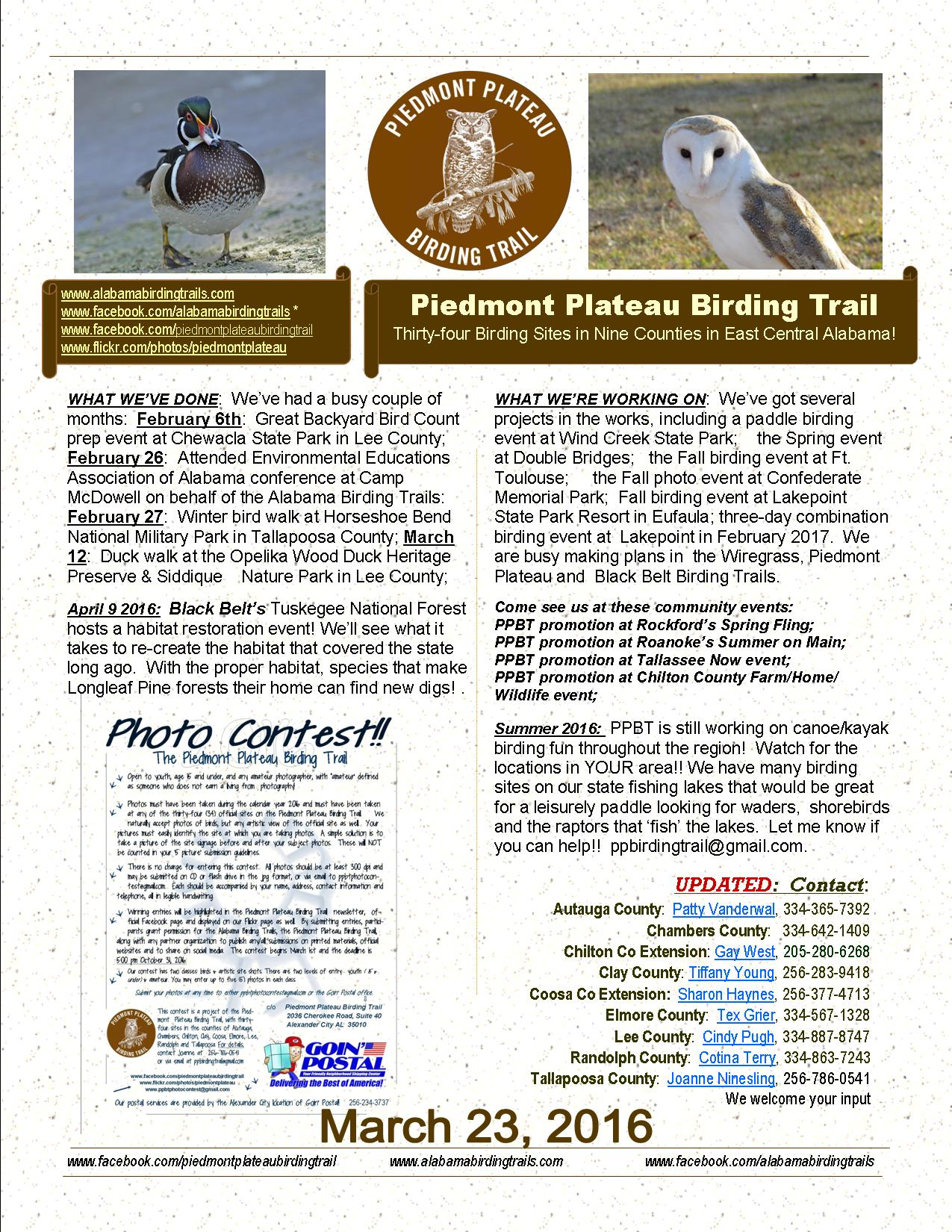 PPBT Newsletter MAR 2016