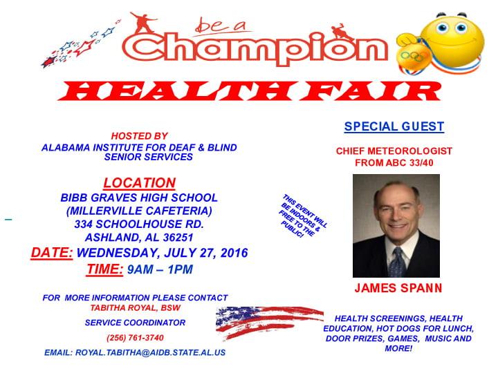 Health Fair @ Bibb Graves High School Cafeteria | Ashland | Alabama | United States